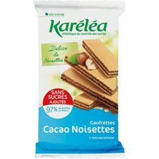 KARELEA Gaufrettes cacao noisette sans sucres ajoutés 200g