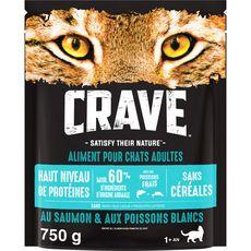 CRAVE Croquettes aux poissons frais pour chat 750g