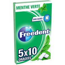 Freedent FREEDENT Chewing-gums sans sucres menthe verte