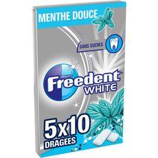 FREEDENT Chewing-gums étui sans sucres menthe douce 5x10 dragées 70g