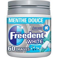 FREEDENT Chewing-gums box sans sucres menthe douce 60 dragées 84g