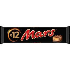 MARS Barres chocolatées au caramel 12 barres 540g