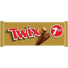 TWIX Barres chocolatées au biscuit recouvert de caramel 7 barres 350g