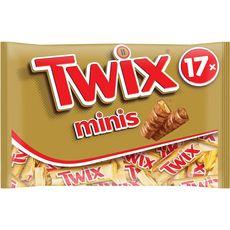 TWIX Twix Mini barres chocolatées au biscuit recouvert de caramel 17 barres 366g 17 barres 366g