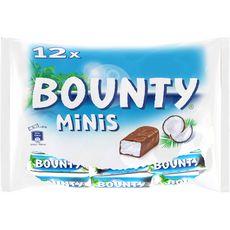 BOUNTY Mini barres chocolatées à la noix de coco 12 barres 366g