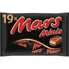 MARS Mini barres chocolatées au caramel 19 barres 366g