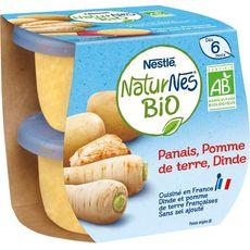 Nestlé NESTLE Naturnes bol panais pomme de terre et dinde bio dès 6 mois