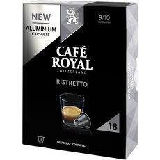 CAFE ROYAL Capsules de café Ristretto compatibles Nespresso 18 capsules 95g