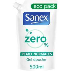 SANEX Zéro% Recharge gel douche peaux normales 500ml