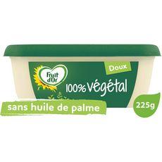 FRUIT D'OR Margarine 100% végétal doux 225g