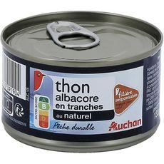 AUCHAN Thon albacore au naturel filière responsable 93g