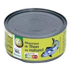 AUCHAN ESSENTIEL Morceaux de thon au naturel 185g