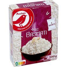 AUCHAN Riz basmati sachets cuisson prêt en 11 min 4x125g