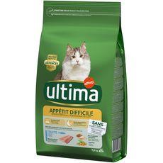 ULTIMA Appétit difficile croquettes à la truite pour chat  1,5kg