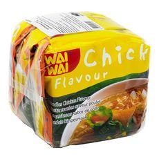 WAI WAI Nouilles asiatiques instantanées saveur poulet 3X60g