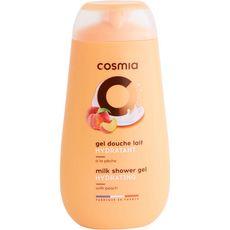 COSMIA Gel douche au lait parfum pêche 250ml