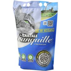 TRANQUILLE Cristale Litière gel de silice au charbon actif pour chat 3,95l