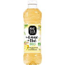 MAYTEA Eau de thé vert infusé citron gingembre bio 1l