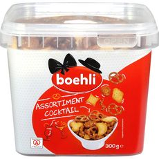 BOEHLI Biscuits salés assortiment cocktail 300g