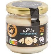 Gourmet Auchan Gourmet Pâte à tartiner au chocolat blanc sans huile de palme 200g