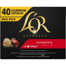 L'OR ESPRESSO Capsules de café compatible Nespresso splendente 40 dosettes 208g