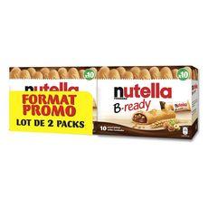 NUTELLA B-Ready Gaufrettes fourrées de pâte à tartiner 2x10 biscuits 440g