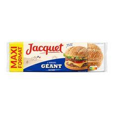 JACQUET Pain spécial pour hamburgers nature géant 6 pains burgers 495g