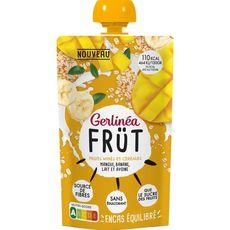 GERLINEA Spécialité fruits mixés mangue banane lait et avoine gourde 1 gourde 120g