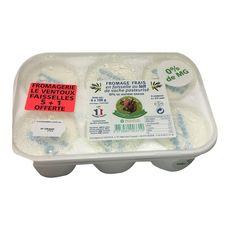 FROMAGERIE LE VENTOUX Fromage frais en faisselle 0%MG dont 1 offerte 6x125g