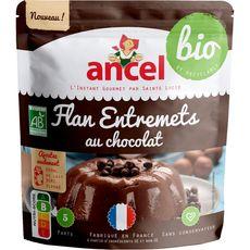 ANCEL Préparation bio pour flan entremets au chocolat 5 parts 45g