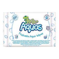 KANDOO Lingettes toilette aquas 50 lingettes