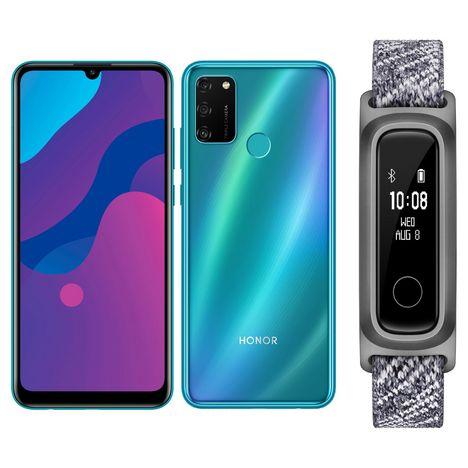 HONOR Smartphone 9A Bleu 64 Go 4G Double NanoSIM + Bracelet Band 5 Sport