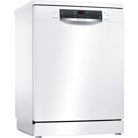 BOSCH Lave vaisselle Pose libre SMS45KW00E, 13 couverts, 60 cm, 44 dB, 5 Programmes