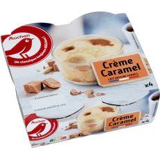 AUCHAN Crèmes caramel aux oeufs frais 4x100g