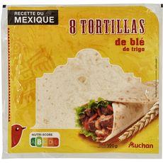 AUCHAN Tortillas de blé 8 tortillas 320g