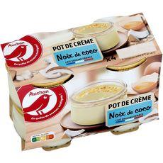 AUCHAN Crèmes à la Noix de Coco 4x100g