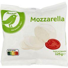 AUCHAN ESSENTIEL Mozzarella 125g