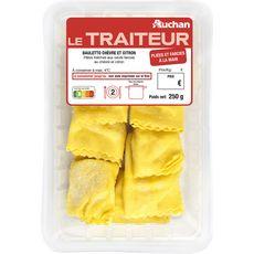 AUCHAN LE TRAITEUR Auchan Le Traiteur Bauletto chèvre citron pâtes aux oeufs frais 2 portions 250g