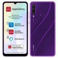 HUAWEI Smartphone Y6P 64 Go 6.3 pouces Violet 4G Double NanoSim