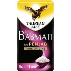 TAUREAU AILE Riz basmati du Penjab pure origine 1kg