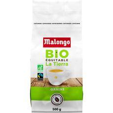 MALONGO Café en grains bio équitable 500g