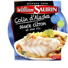 WILLIAM SAURIN Colin d'Alaska au citron et riz 1 personne 300g