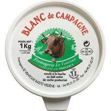 FROMAGERIE LE VENTOUX Fromagerie Le Ventoux Fromage blanc de campagne au lait entier de vache 1kg 1kg