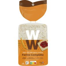 WEIGHT WATCHERS Pain de mie sans croûte complet 330g