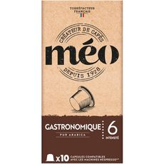 Méo Capsules de café gastronomique compatibles Nespresso x10 -53g