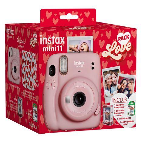 FUJIFILM Appareil photo instantané Instax Mini 11 Pack Love - Rose