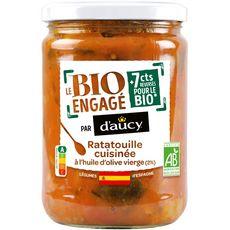 D'AUCY Bio ratatouille cuisinée à l'huile d'olive vierge bocal 530g