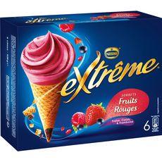 EXTREME Extrême Cône glacé fraise, cassis et framboise 426g 6 pièces 426g