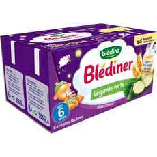 Blédina BLEDINA Blédîner brique céréales lactées légumes verts dès 6 mois