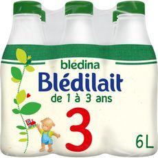 Blédina BLEDINA Blédilait 3 lait de croissance liquide dès 12 mois